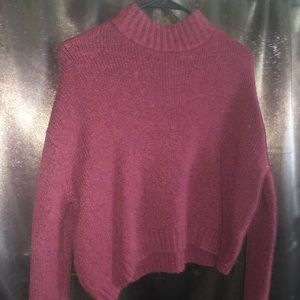 Turtle Neck, crop sweater